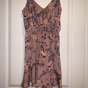 Floral Wrap Front Mini Dress